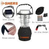 Lanterna di campeggio ricaricabile a gomito solare di potere dei 36 LED