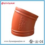 Ductile Iron Grooved 45 Degree Elbow com FM / UL Aprovado