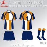 La meilleure plus défunte chemise de vente de rugby de sublimé de modèle de Healong