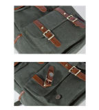 Forma Canvas Backpack com Real Leather (BSBK0037)