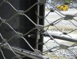 Acero inoxidable de malla de cables para la protección contra caídas