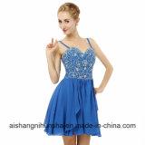 Линия отбортовала платье выпускного вечера высокого качества планки спагеттиа шифоновое