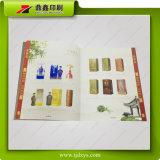 Guichet de Hongxinda coupant l'impression Softcover de brochure de clinquant d'or