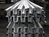 Perfil perforado de acero/perfil de acero de la ventana/perfil de acero de Omega (fábrica)