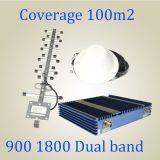 27dBm de Mobiele GSM van de Repeater van de Band van het Signaal Hulp Dubbele GSM van DCS 900/1800MHz Repeater van het Signaal