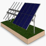 Sunpower la plupart de système solaire de support de bride solaire efficace