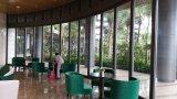 Beweglicher Lichtbogen-Glaswand für Hotel