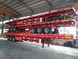 20FT/40FT Flatbed Semi Aanhangwagen van de Container, de Aanhangwagen van de Chassis van het Skelet