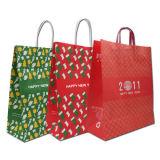Saco de compra relativo à promoção do presente colorido do papel de embalagem