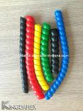 Hydraulischer Schlauch und Kabel verwendeten bunten gewundenen Schlauch-Schutz-Plastikschoner