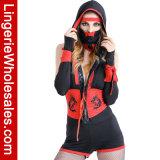 Halloween-Partei der Frauen heftiges rotes Ninja fantastisches Cosplay Kostüm