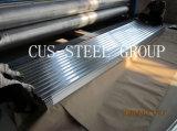 El cinc cubrió perfil del material para techos/la hoja acanalada de acero galvanizada