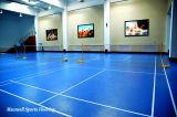 O PVC da alta qualidade do certificado de Bwf ostenta o revestimento usado à espessura da corte de Badminton 4.5mm/5mm