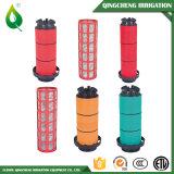 Giardino di agricoltura che innaffia il filtro a sipario di plastica di irrigazione