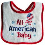 Terry-fördernder Baby Drooler SchellfischePinafore des kundenspezifischen nette Auslegung gestickten Babys Baumwoll