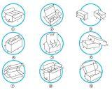 E-Flöte Wellpappen-Verschiffen-Kasten für das medizinische Verpacken