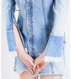 Muffen-lange Hülsen-Frauen-Jeans-Denim-Kleider