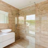 Vidro Tempered do banheiro com furos e bordas Polished