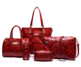 Sacs à main en cuir de créateur d'unité centrale de sacs réglés de mode de dames de main