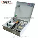 fuente de alimentación del interruptor del monitor del rectángulo de la fuente de alimentación del CCTV de 6CH 12V 5A 60watts