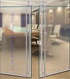 Tipo maneta de Dimon H de puerta de cristal del acero inoxidable con el bloqueo Dm-DHL 025