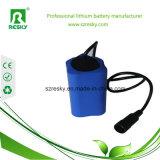 pack batterie de 7.4V 4400mAh Icr18650 pour la lumière de recyclage de vélo