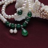 Комплект ювелирных изделий перлы формы кнопки Snh славный реальный пресноводный