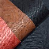 Korbgeflecht-Muster PU-Leder, geprägtes synthetisches Schuh-Leder