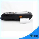 Scanner mobile androïde portatif de code barres du terminal PDA d'imprimantes thermiques de QS