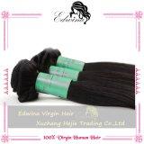 Weave natural não processado reto chinês do cabelo da cor