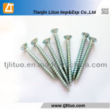 Parafuso, preço competitivo, parafuso de aglomerado de zinco branco