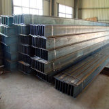 H Steel Beam con Galvanized Surface e Holes Use per Frame