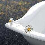 925 de echte Zilveren Oorring van het Ontwerp van de Nagel van het Oor van de Vorm van de Bloem Mooie voor Uw Meisje