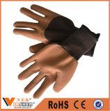 La paume de latex de sûreté de la Chine a enduit les gants de nitriles tricotés par nylon