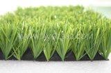 自然な緑のフットボール競技場の総合的な草の泥炭