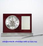 Ricordo di affari ed orologio di legno dello scrittorio degli omaggi con l'insieme di scheletro del regalo del kit dell'orologio della penna K8033