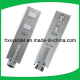 Luz de rua solar Integrated do diodo emissor de luz 25W da fábrica com sensor