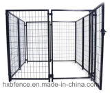Canile del cane del tubo della polvere/gabbia rotondi rivestiti del cane