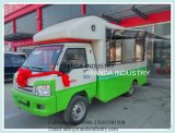 Reboque Qingdao do carrinho de concessão da pelota dos peixes do carro da cozinha da castanha da bancada em China