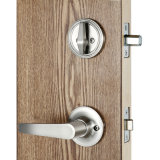Singolo Cylinder Full Plated Entrance Handleset Lock in Satin Nickel