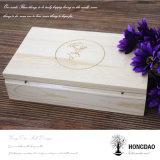 Hongdao kundenspezifischer hölzerner Kasten für Fotos und USB-Verpackung Wholesale_L