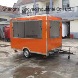 Les kiosques portatifs de café d'aliments de préparation rapide des prix d'intérieur de kiosque ont personnalisé la bonne qualité de chariot mobile de nourriture vendant le camion de nourriture à vendre