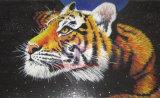 Die Tiger-Kunst-Mosaik-Abbildung, die durch gebildet wurde, Hand-Schnitt Glas (CFD230)