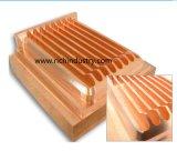 Guarnición de tubo de cobre amarillo con trabajar a máquina recto de la forja Part/CNC del acero de forja de la pieza de maquinaria de la cuerda de rosca