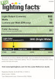 A1 Energy Star totalmente regulável R30 / BR30 LED Light