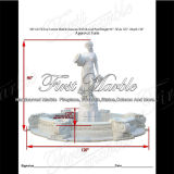 Fontana bianca superiore della scultura di Carrara per la mobilia Mf-612 del giardino