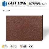 Pedra artificial Polished de quartzo da partícula fina de Brown para bancadas do console