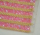 Feuille auto-adhésive ou Hotfix de Rhinestones de la résine ab au roulis de maille de décor de Rhinestone de tissu pour la garniture du mariage 24*40cm Bling