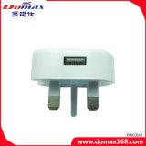 Carregador da parede do curso do USB do plugue BRITÂNICO do dispositivo dos acessórios do telefone móvel micro