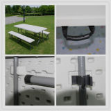 6ft/1.83m Highquality Plastic Folding ao meio Table, Banquet Table, Dining Table, Blow Molding Folding Table, Lightweight Outdoor Furniture
